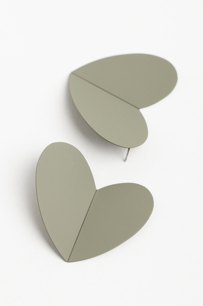OLIVIA NZ Store online | Anya Heart Earrings / Khaki