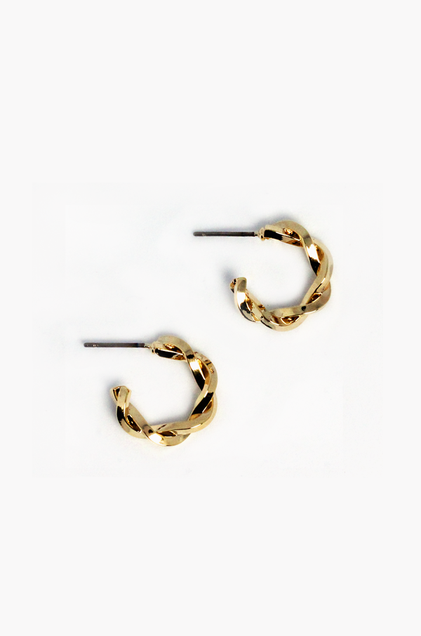 Swirl Hoop Earrings