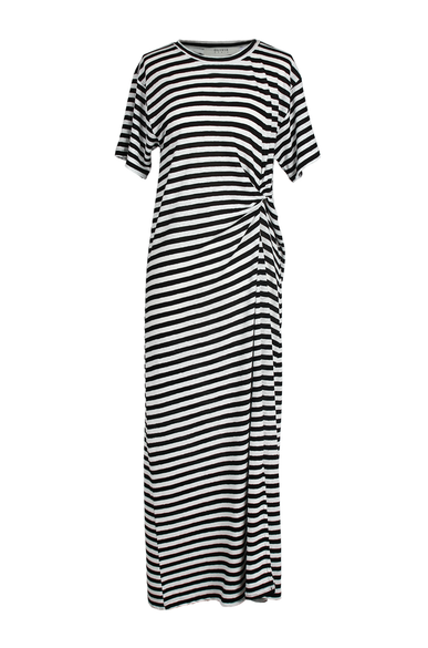 OLIVIA NZ Store online | Sasha Striped Dress / Black - OLIVIA NZ