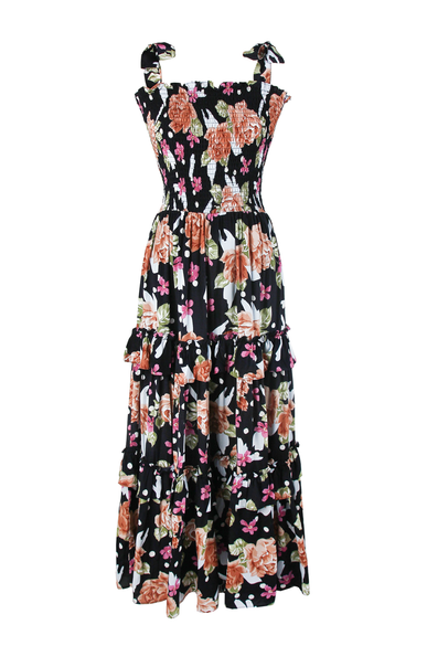 OLIVIA NZ Store online | Rose Smoke Maxi Dress / Navy - OLIVIA NZ