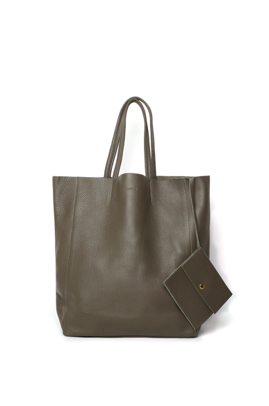 OLIVIA NZ Store online | Joy Leather Shopper Bag / Olive