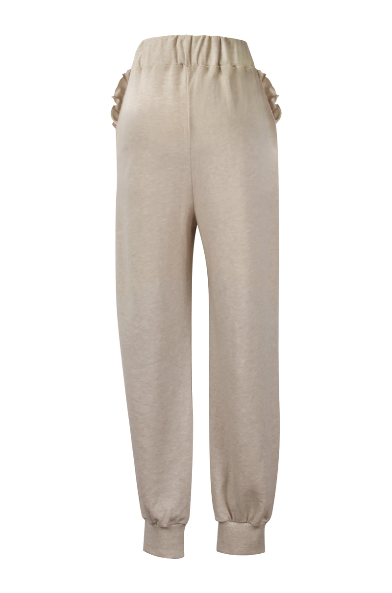 Buttercup Frill Sweatpants / Oatmeal