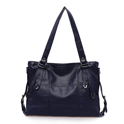 SOFT FAUX LEATHER BAG IN BLACK
