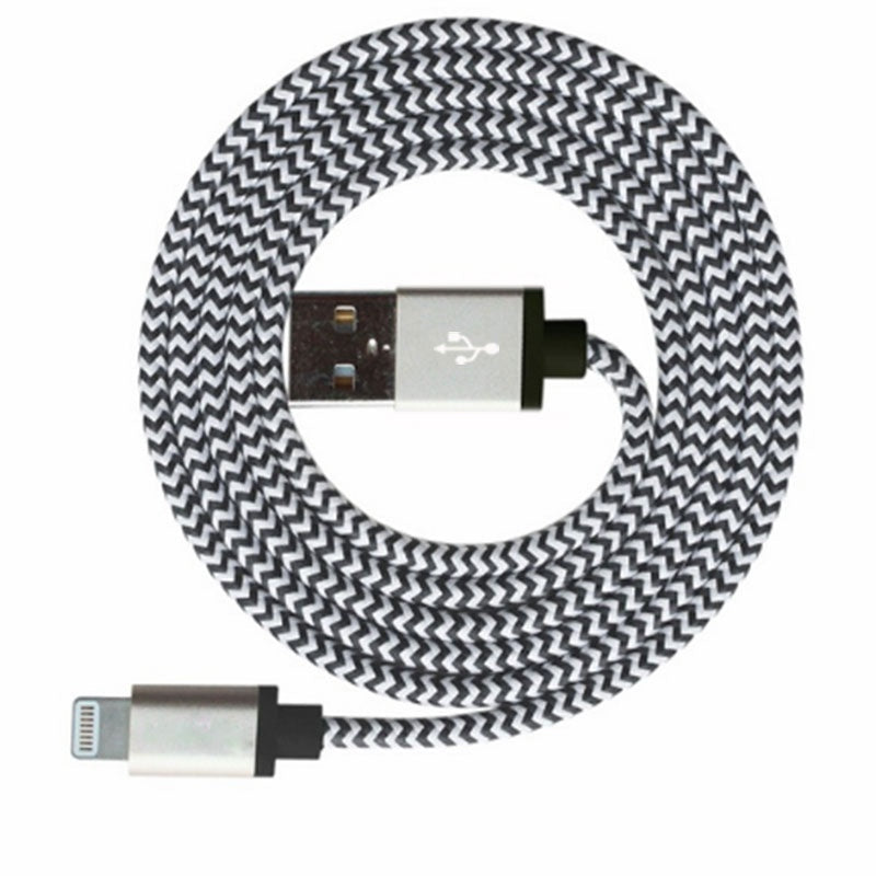 iPhone Lightning Cable 2.4A Fast Charging Nylon Braid iPad 3 Pack
