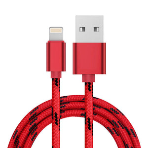 iPhone Lightning Cable 2.4A Fast Charging Nylon Braid iPad Air Mini Pro