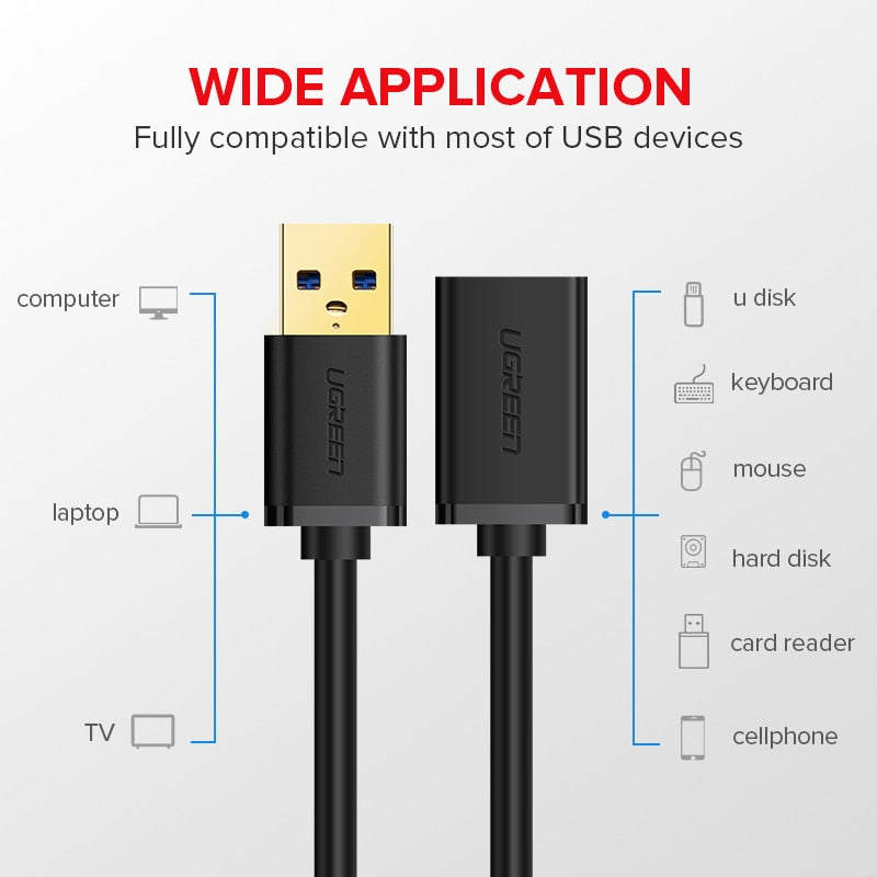 Extension 3.0 USB Cable for Smart TV PS4 Xbox One