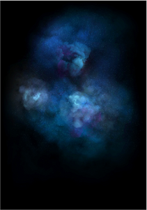 Galaxy Explosion (Diamond Dust - Blue)