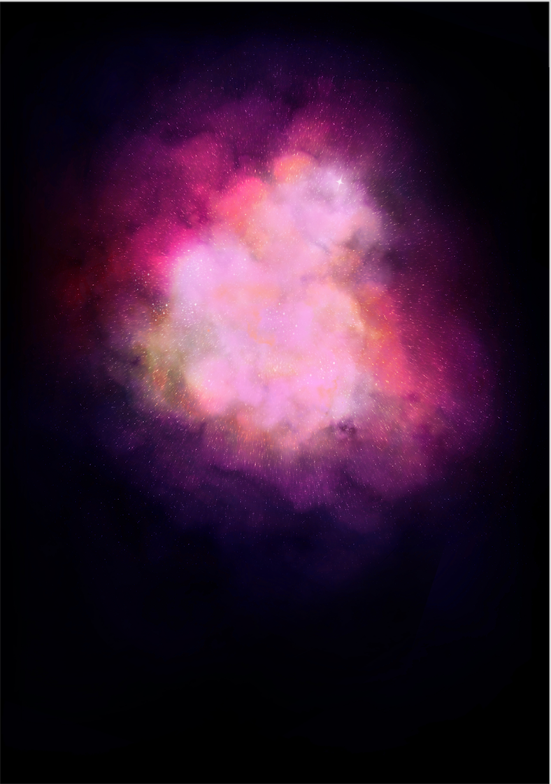 Galaxy Explosion (Diamond Dust - PInk)