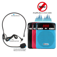 Mini Rechargeable PA system (2100mAh) with Wired Headphone for Teachers, Presentations, Coaches, Tour Guides, Market Promotion (Blue)