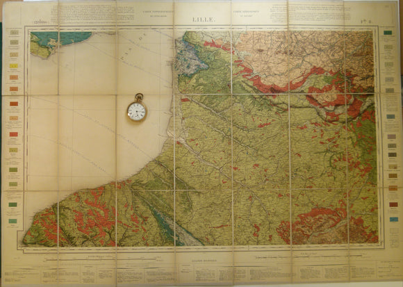 Sheet 8, Lille, Carte Géologique de, 1897, 1:320,000 scale. Base map 1852