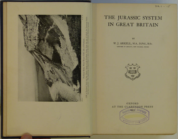 Arkell, W.J. 1933. The Jurassic System in Great Britain