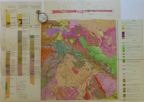 Czechoslovakia. No date. M-33-8 Chabarovice-Dresden. Colour printed geological map, 38 x 49.5cm at 1:200,000