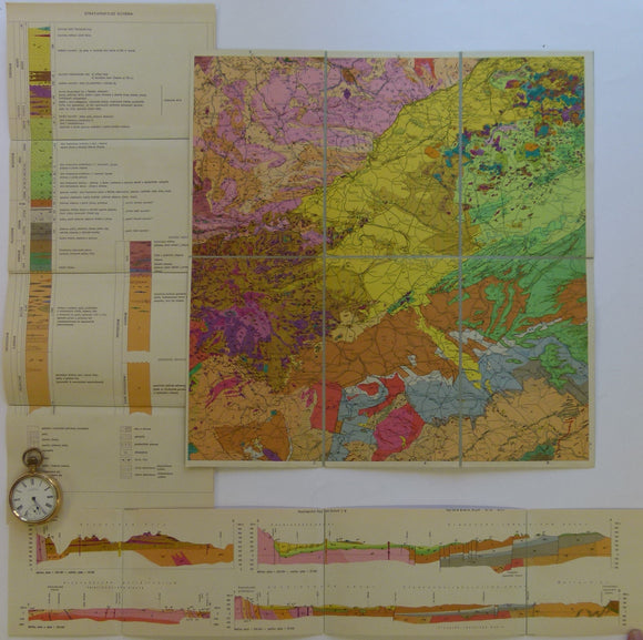 Czechoslovakia. No date. M-33-14 Teplice-Annaberg-Buchholz. Colour printed geological map, 38 x 37cm at 1:200,000