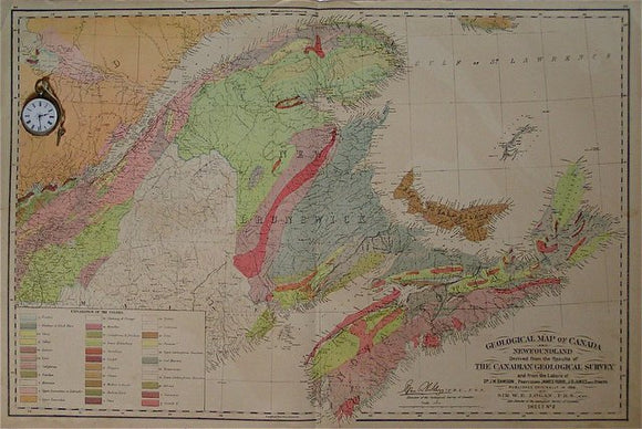 Geological Map of Canada and Newfoundland sheet 2