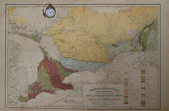 Geological Map of Canada and Newfoundland sheet 3