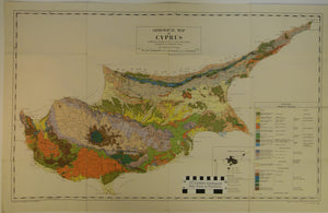 Cyprus, 1963. Geological Map of Cyprus. Geological Survey of Cyprus. 1:250,000