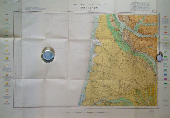 Sheet 59, Bordeaux, Carte Géologique de la France, 1967. Scale 1:320,000.