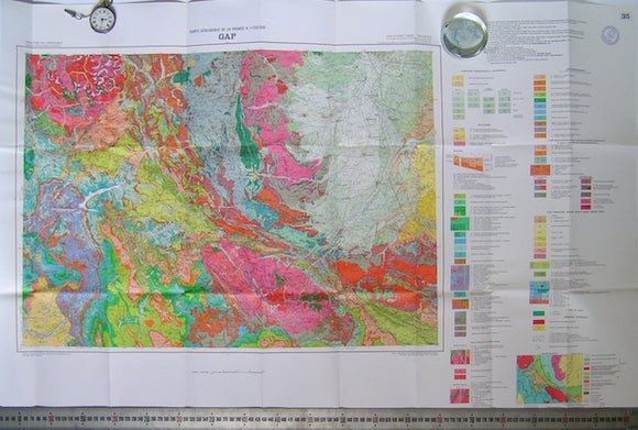 Gap, sheet 35 of Carte Geologique de France, 1980