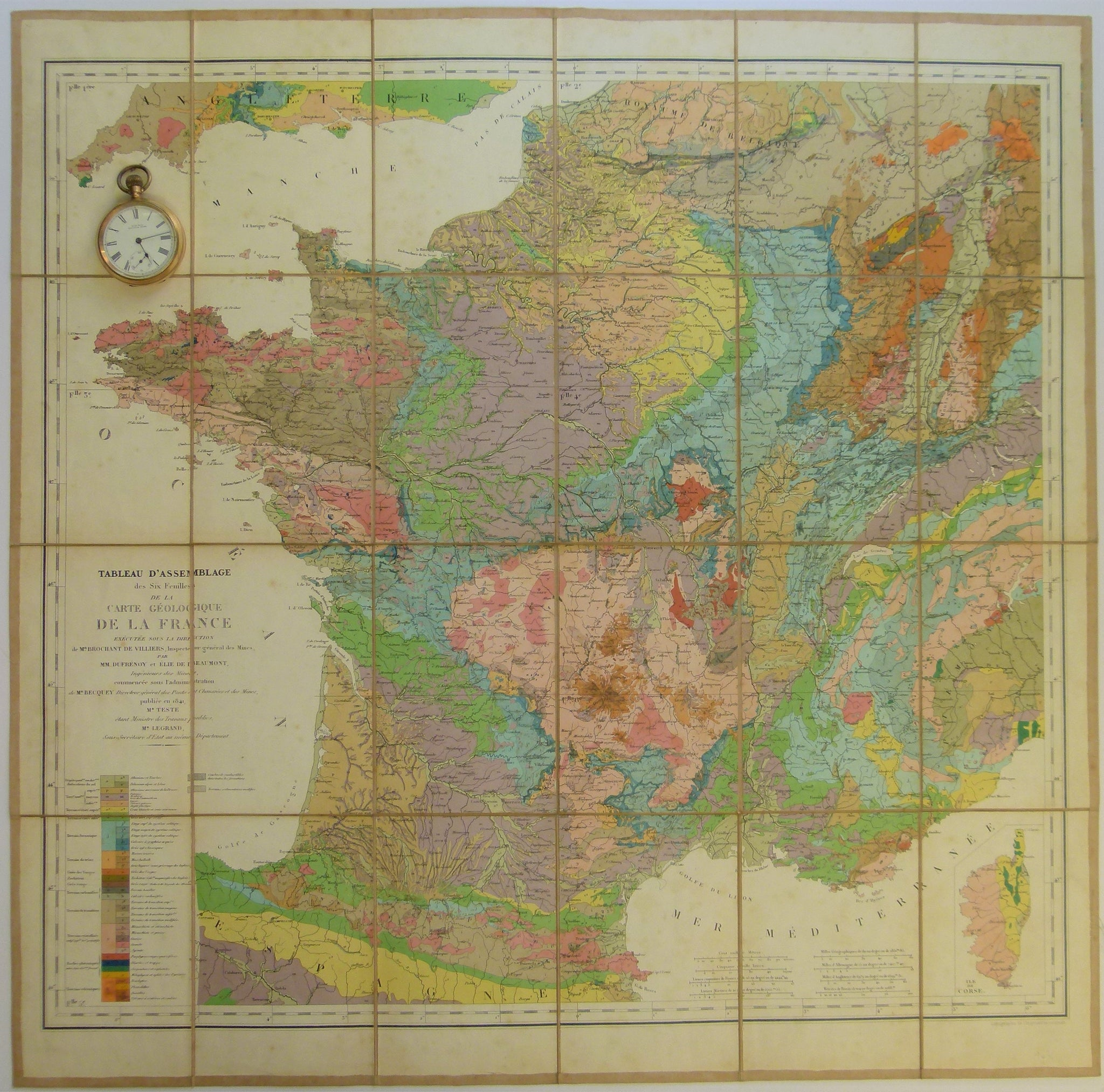 France 1841 First Geological Map Of All France