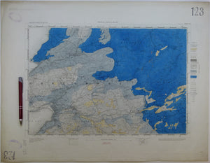 "Ireland sheet 123, Ennistimon, 1"" scale. 1882. Base map not dated. Hand-coloured engraving"