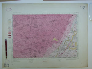 "Ireland sheet 138, Tullow, 1"" scale. 1901. Covers Hacketstown, Shillelagh. Hand-coloured"