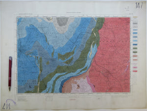 "Ireland sheet 147, Kilkenny, 1"" scale. 1901. Covers Bagnalstown, Borris. Hand-coloured"