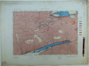 "Ireland sheet 184, Kenmare, 1"" scale. 1859. First edition. Covers Muckrose Lake, Macgillycuddy's Reeks.  Hand-coloured"