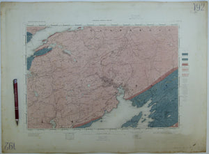 "Ireland sheet 192, Glengarrif, 1"" scale. 1858. First edition. Base map not dated. Hand-coloured"