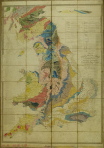 Walker, J. & C. 1838*. A Geological Map of England & Wales and Part of Scotland. Hand coloured engraved map 144 x 100cm
