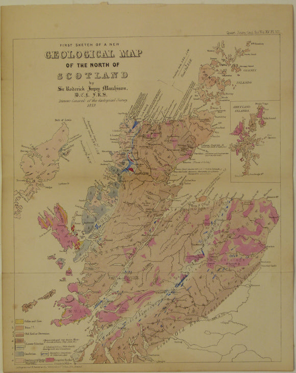 Murchison, Sir R.I. 1859. 'First Sketch of a New Geological Map of the North of Scotland