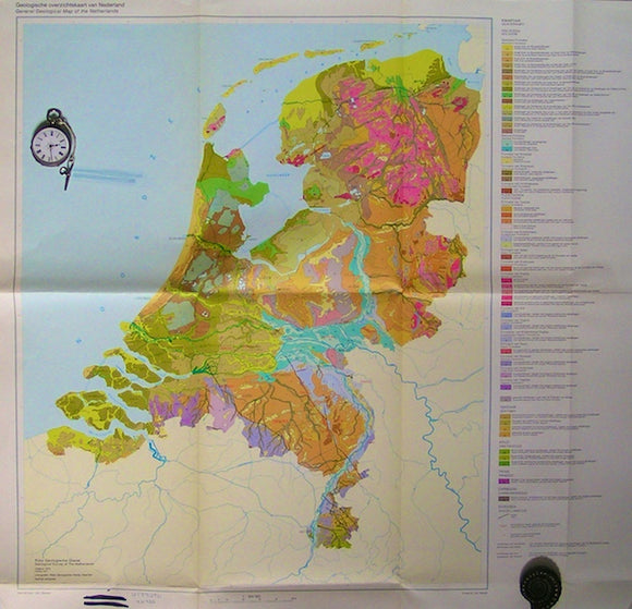 General Geological Map of the Netherlands, 1975