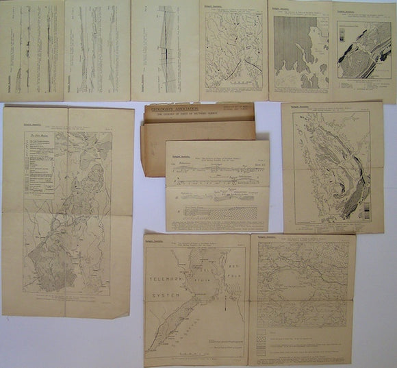 The Geology of Parts of Southern Norway: Duplicate Set of Maps, Sections and Tables, 1934