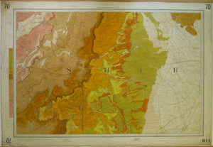 "Sheet  70 Drift, Old Series 1"". 1886. First edition. Lincolnshire: Newark upon Trent, Grantham. Topography 1824,"