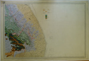"Sheet  84 Drift, Old Series 1"". 1893. Lincolnshire: Louth. Topography 1824, geology 1884,"