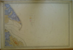 "Sheet  85 Drift, Old Series 1"". 1893. Lincolnshire, Yorkshire: Great Grimsby, Mouth of the Humber, Spurn Head. Topography 1824"