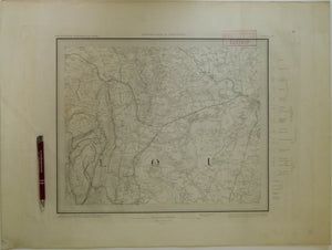 "Sheet  43se, Old Series 1"". 1884. Gloucestershire: Gloucester, Forest of Dean, River Severn. Base map 1831, railways inserted 187"