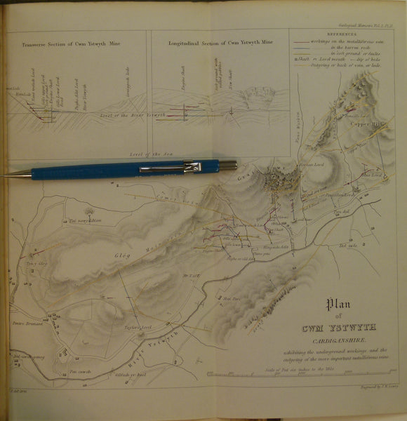 Memoirs of the Geological Survey of GB, v2, pt2, 1848. Incl. On the Mining District of Cardiganshire and Montgomeryshire
