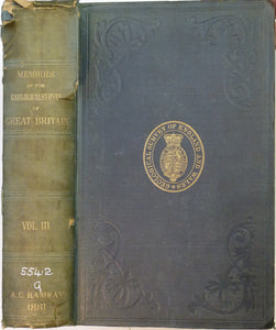 Memoirs of the Geological Survey of GB, v3, 1881. 2nd edition. 'The Geology of North Wales'