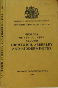 Sheet Memoir 182. Droitwich, Abberley and Kidderminster, by Mitchell, GH et al.