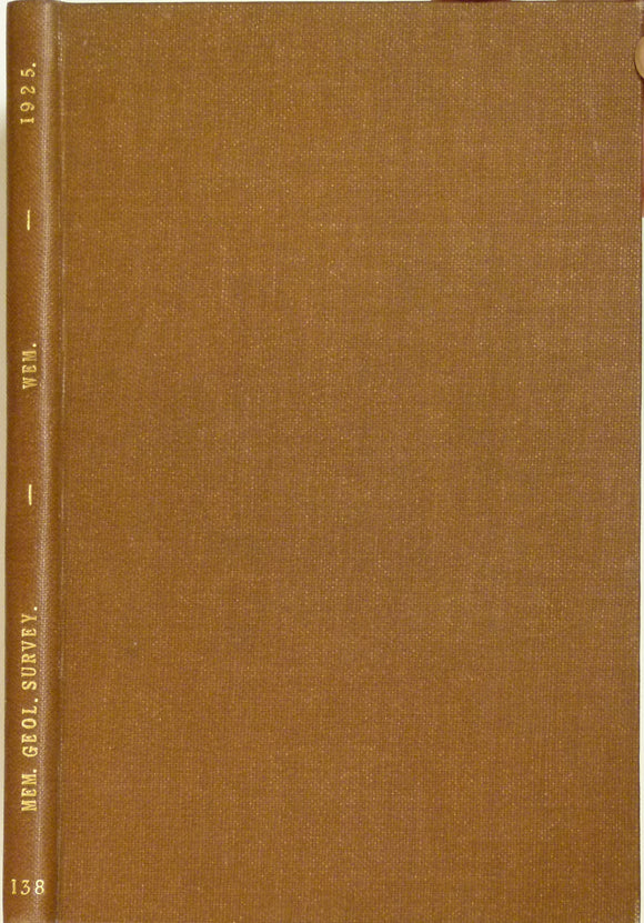 Sheet Memoir 138. Wem, by Pocock, TI. et al. 1925, 1st edition.