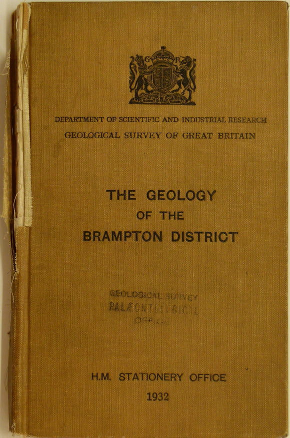 Sheet Memoir 18. Brampton District, by Trotter, FM and Hollingworth, SE. 1932, 1st edition.