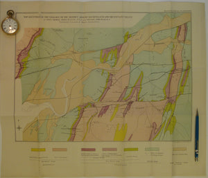 Wales Mid- 1916. Map Illustrating the Geology of the District around Machynlleth and the Llyfnant Valley, colour