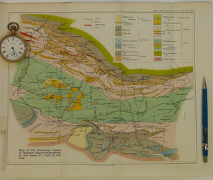 Wales Mid- 1906. [Geological] Map of the Ordovician Rocks of Western Caermarthenshire, colour