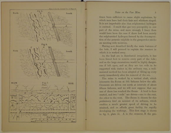 Wales Mid- 1879. 'Notes on the Van Mine [near Llanidloes]' by C. Le Neve Foster. Pp 1-14.