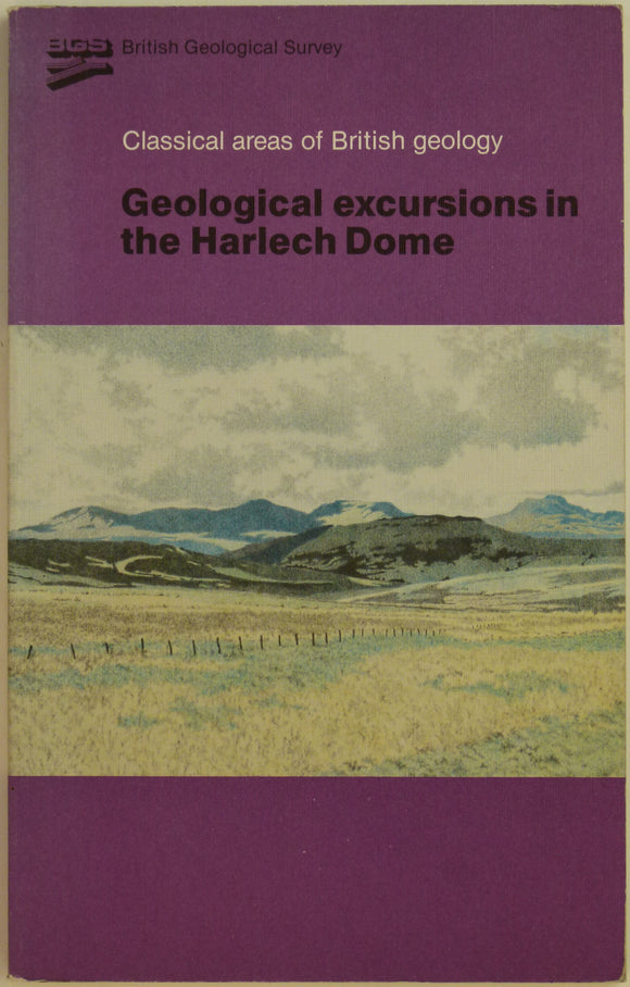 Alan, PM and Jackson, AA, 1985. Geological Excursions in the Harlech Dome in Classical Areas of British Geology series.