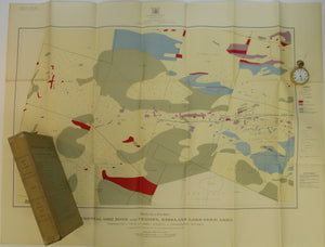Todd, EW, 1928. Coloured Geological Maps and Sections to accompany Report on Kirkland Lake Gold Area. Dept. of Mines, Ontario