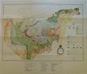 Russia. 1957. Tectonic Map of East Siberia. 1:5,000,000 scale folded colour printed map 57.5 x 67 cm.
