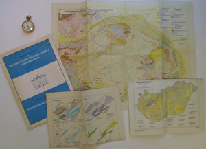 Hungary. 1989. Set of seven folded colour printed geological maps at various scales in single A4 size folder published by Hungarian Geological Institute