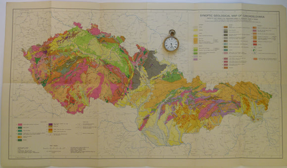 Czechoslovakia. 1968. Set of six folded colour printed geological maps at 1:000,000 scale. All 47 x 83.5cm.