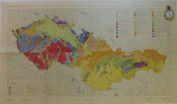 Czechoslovakia. 1968. Tectonic Map of Czechoslovakia. Beily, A. Folded colour printed map at 1:1,000,000